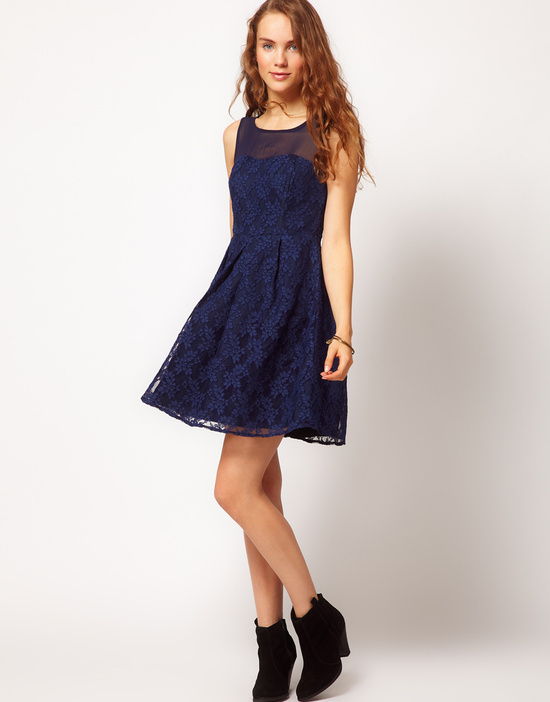 Stylish Bridesmaid Dresses from Asos 2013 Bridal Party Trends navy lace 2