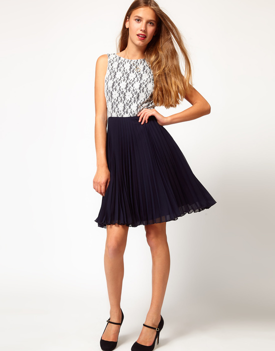 Stylish Bridesmaid Dresses from Asos 2013 Bridal Party Trends lace with navy