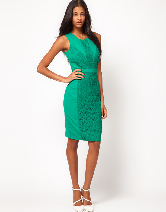 Stylish Bridesmaid Dresses from Asos 2013 Bridal Party Trends green lace