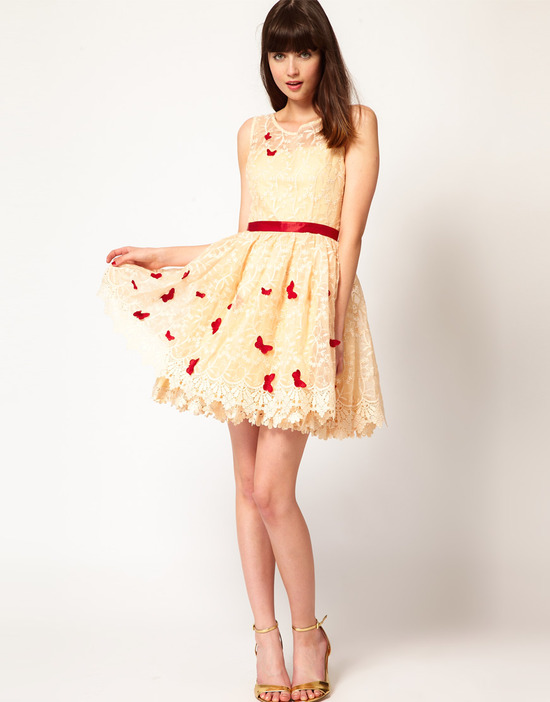 Stylish Bridesmaid Dresses from Asos 2013 Bridal Party Trends lace with red