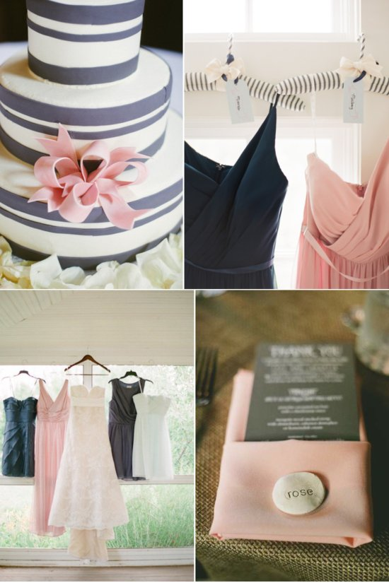 Romantic Wedding Colors Charcoal and Pink