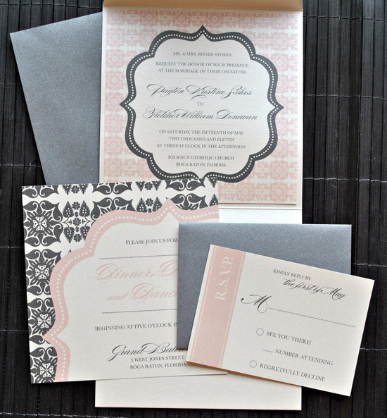 Elegant Wedding Color Palette invitations