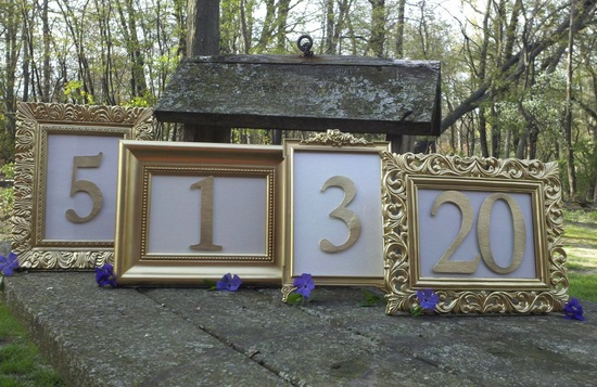 Unique Wedding Reception Table Numbers Handmade Weddings 3