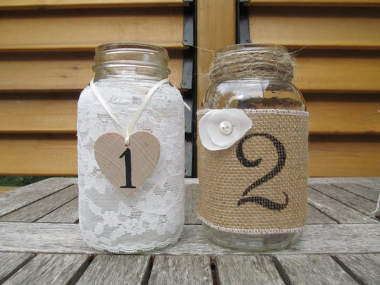 Unique Wedding Reception Table Numbers Handmade Weddings 18