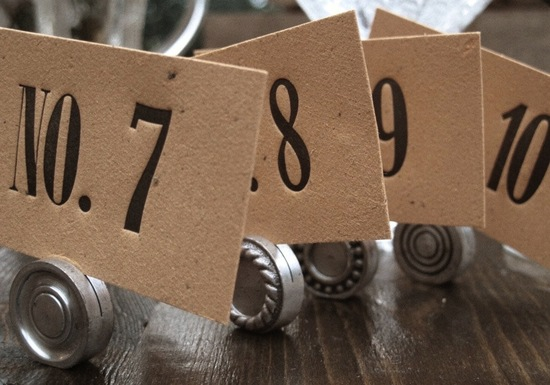 Unique Wedding Reception Table Numbers Handmade Weddings 17