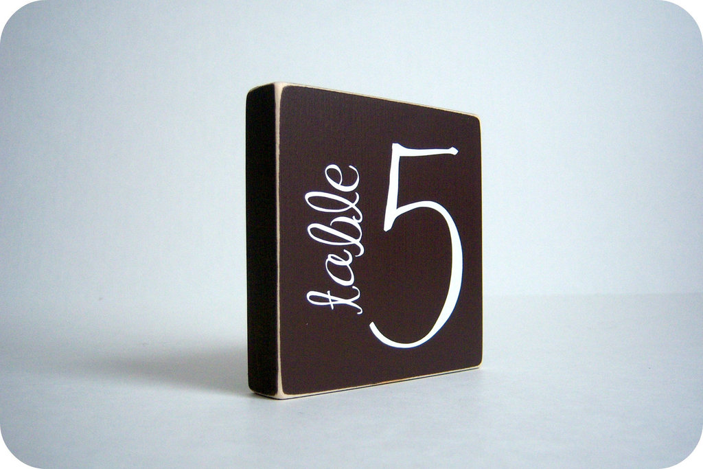 Unique Wedding Reception Table Numbers Handmade Weddings 24
