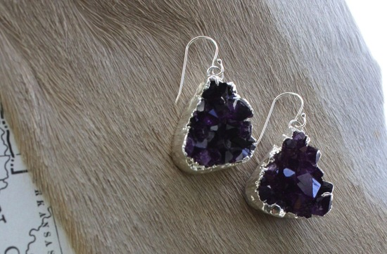 Elegant Wedding Accessories Amethyst earrings