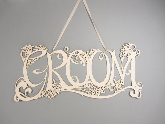 Handmade Wedding Finds Laser Cut Groom sign
