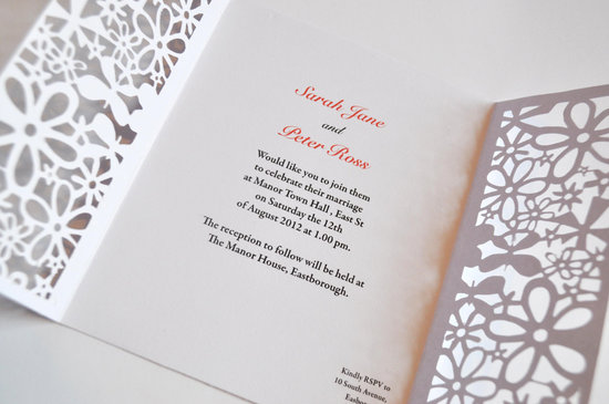 Handmade Wedding Finds Laser Cut invitation