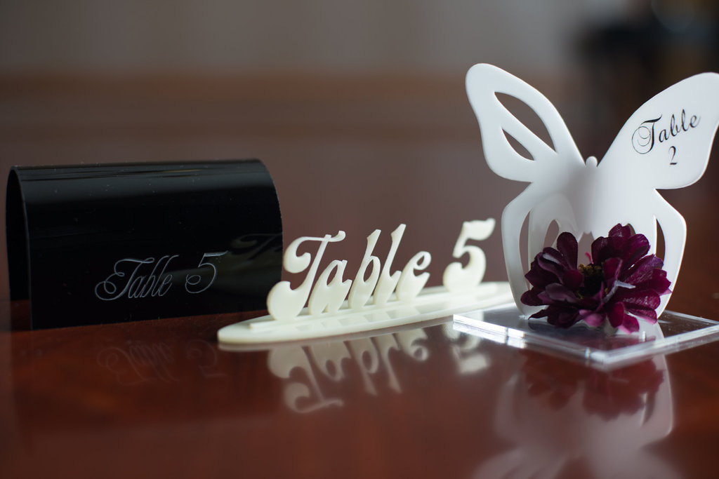 Handmade Wedding Finds Laser Cut table numbers