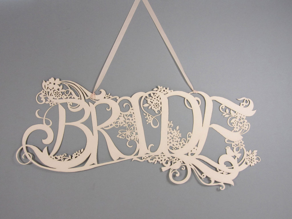 Handmade Wedding Finds Laser Cut reception sign