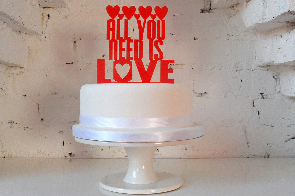 Handmade Wedding Finds Laser Cut cake topper