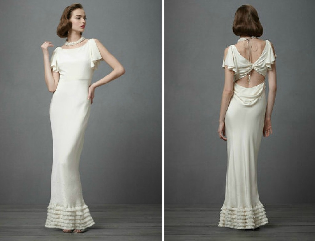 Wedding Ideas 1930s bridal style gowns BHLDN