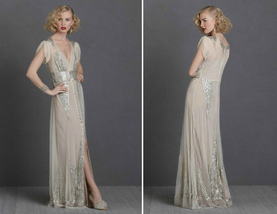 Vintage Wedding Ideas 1930s bridal style gowns BHLDN