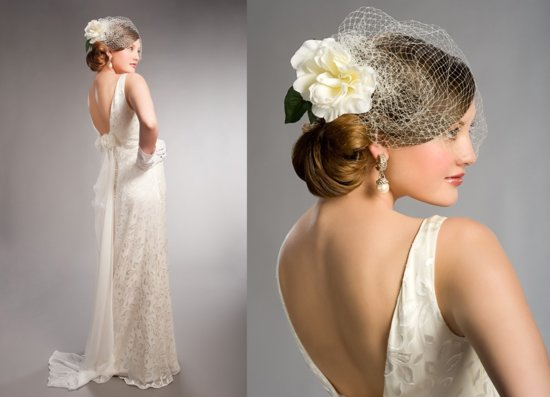 1930s inspired bridal style wedding dresses and accessories