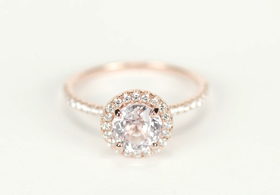 Unique Engagement Rings Halo Setting Handmade Weddings On Etsy In Italy Wedding