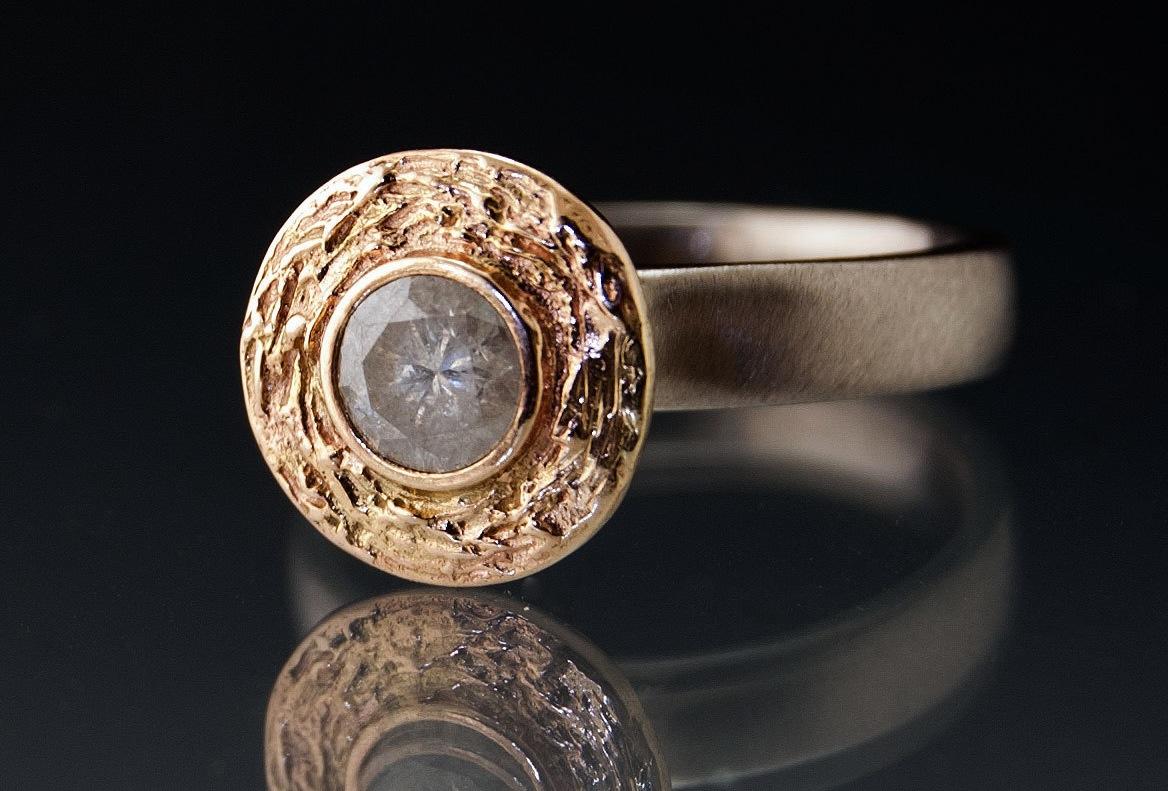 Unique Engagement Rings Halo Setting Handmade Weddings On Etsy 9 | OneWed.com