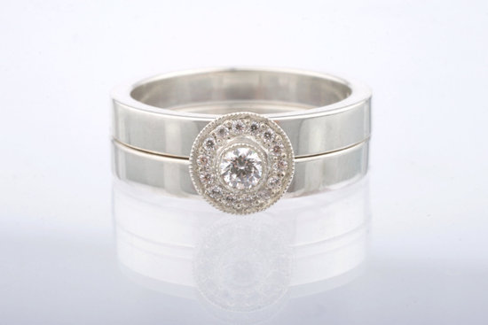 Unique Engagement Rings Halo Setting Handmade Weddings on Etsy.