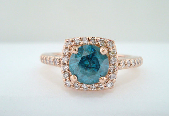 Unique Engagement Rings Halo Setting Handmade Weddings on Etsy 12