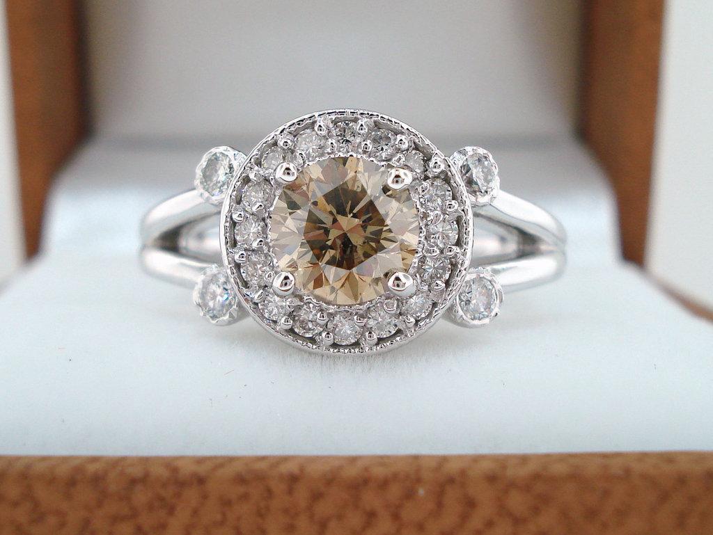 Unique Engagement Rings Halo Setting Handmade Weddings On Etsy.