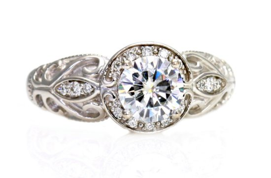 Halo Engagement Rings on Etsy Handmade Weddings 1