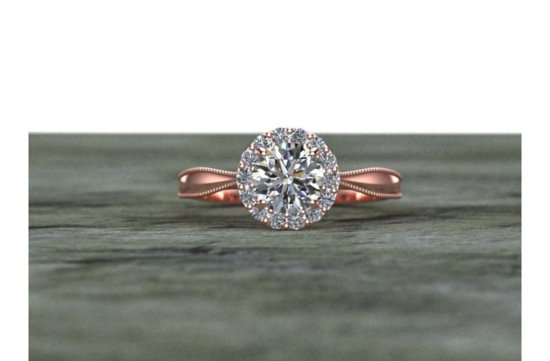 Halo Engagement Rings Etsy Weddings 3