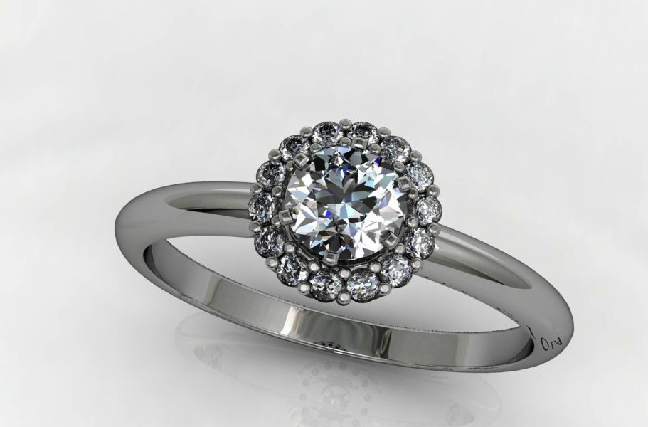 Unique Engagement Rings Halo Setting Handmade Weddings on Etsy