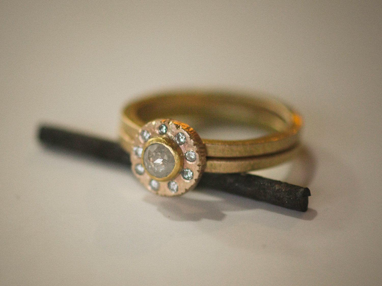 Gold Wedding Rings Etsy Unique Wedding Rings