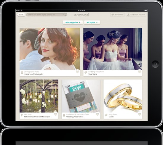 photo of OneWed iPad Mock for Media