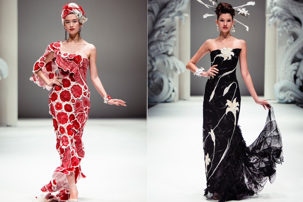Floral-beaded-bridesmaid-dresses-elegant-oriental-wedding-style.full