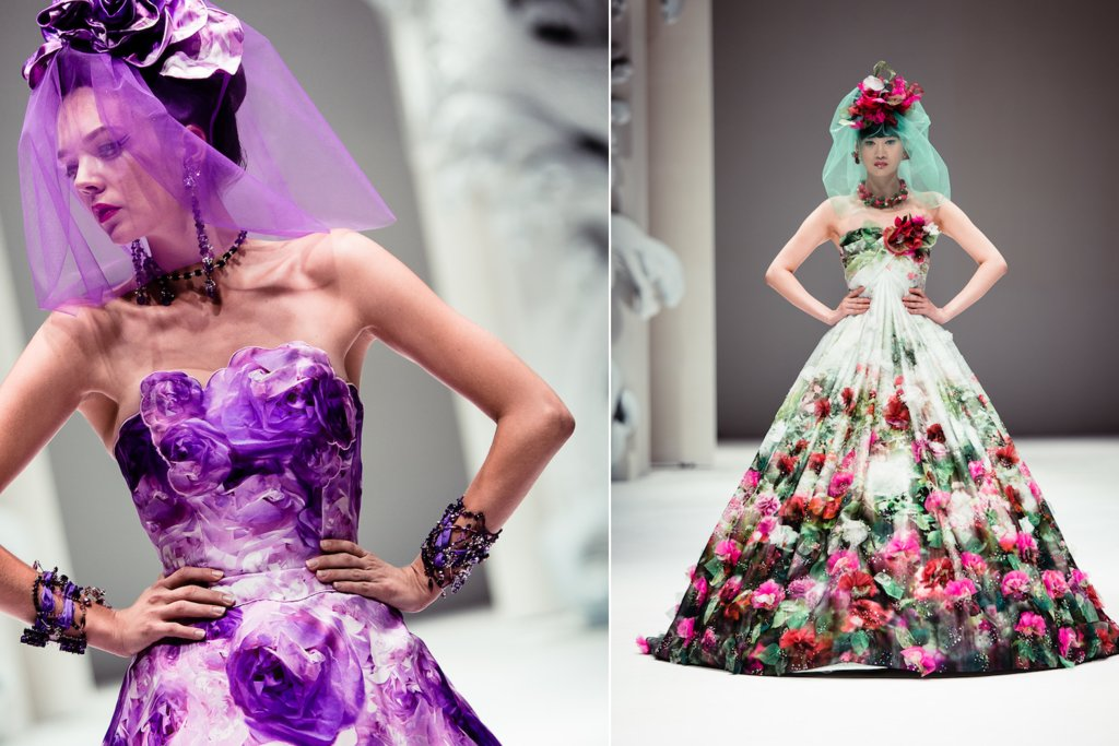 Floral Wedding Dress Bridal Inspiration Yumi Katsura
