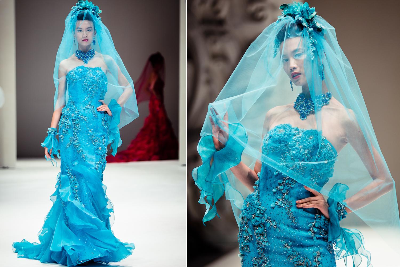 Cultural wedding fashion aqua blue bridesmaid dress for Wedding dress in blue