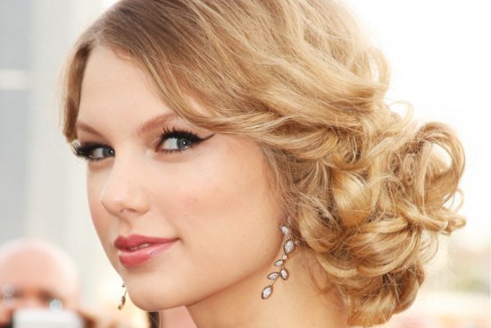 Wavy Bridal Updos Wedding Hairstyles Taylor Swift
