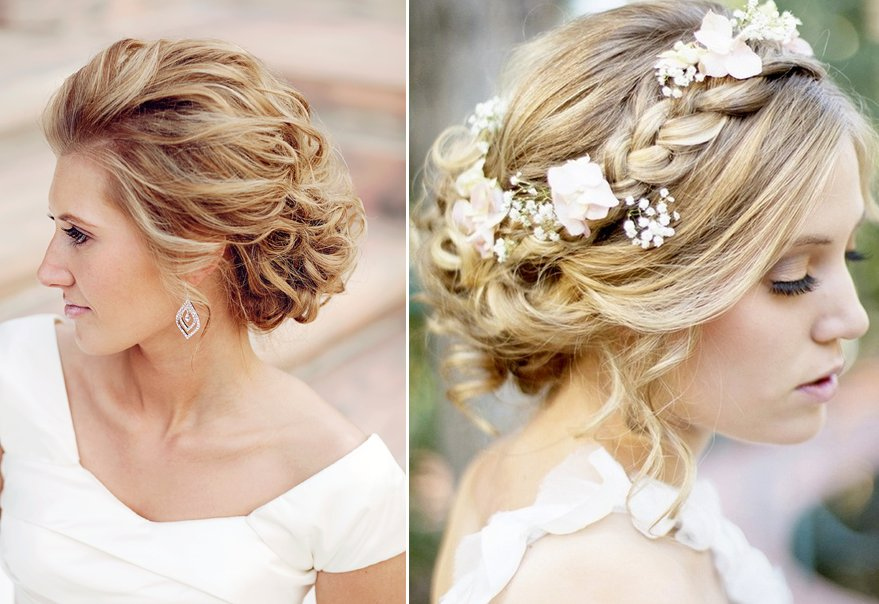Sweet bridal updos romantic wedding hairstyles blond brides junglespirit Images