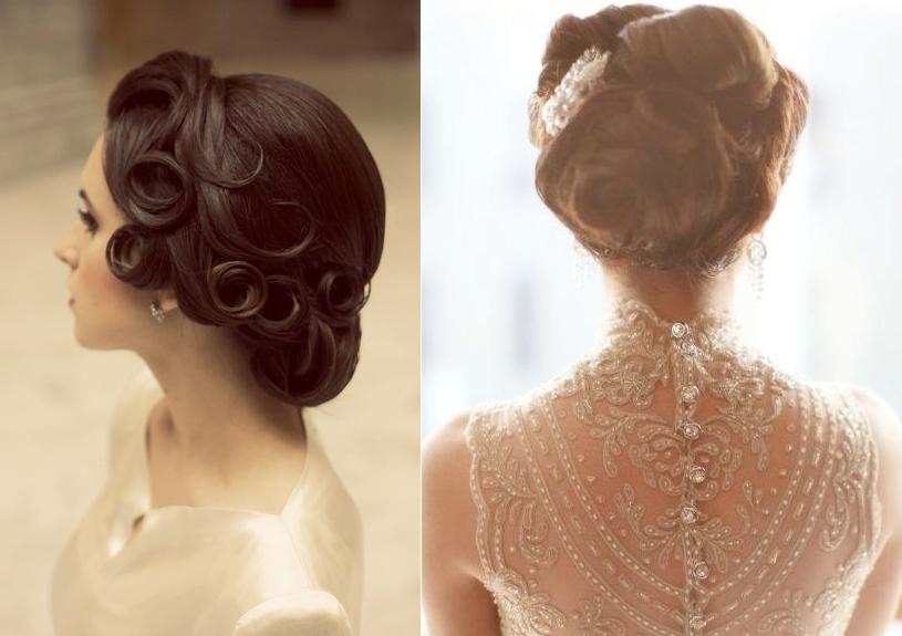 Vintage Inspired Bridal Updos