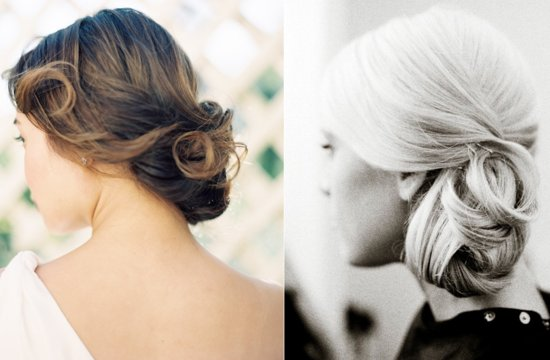 Simple Bridal Updos outdoor wedding