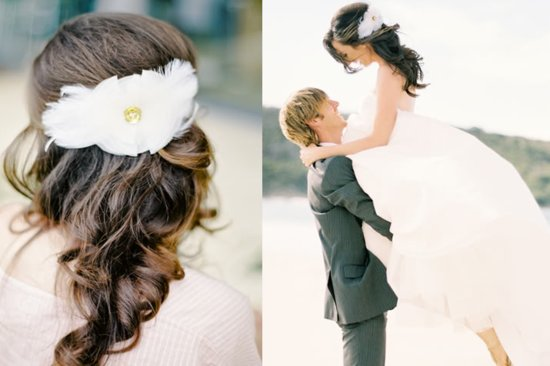 Soft Pretty Wedding hairstyle half up