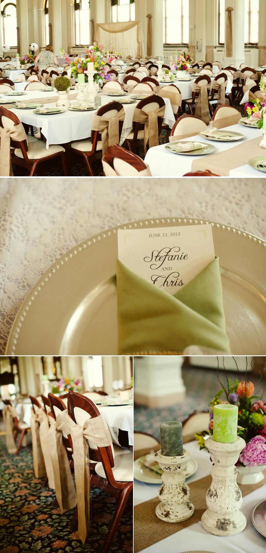 Rustic elegant summer wedding decor details onewed