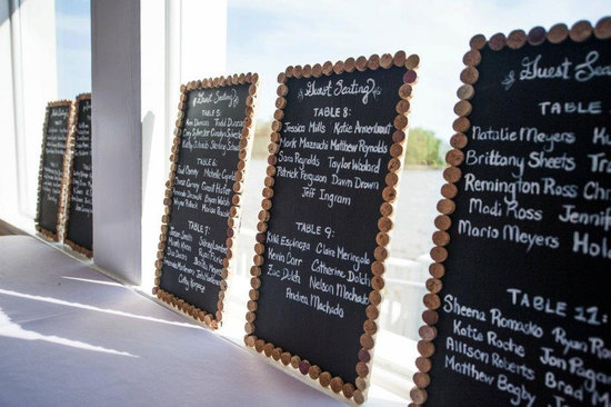 Handmade Wedding Finds for Unique Weddings Cork Rimmed Menus
