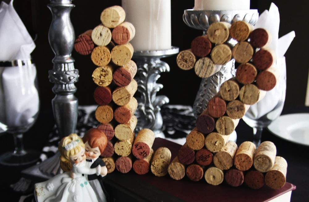 Handmade Wedding Finds for Unique Weddings Cork reception table numbers