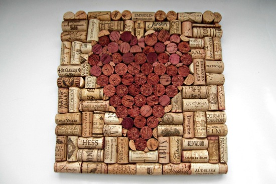 Handmade Wedding Finds for Unique Weddings Cork art