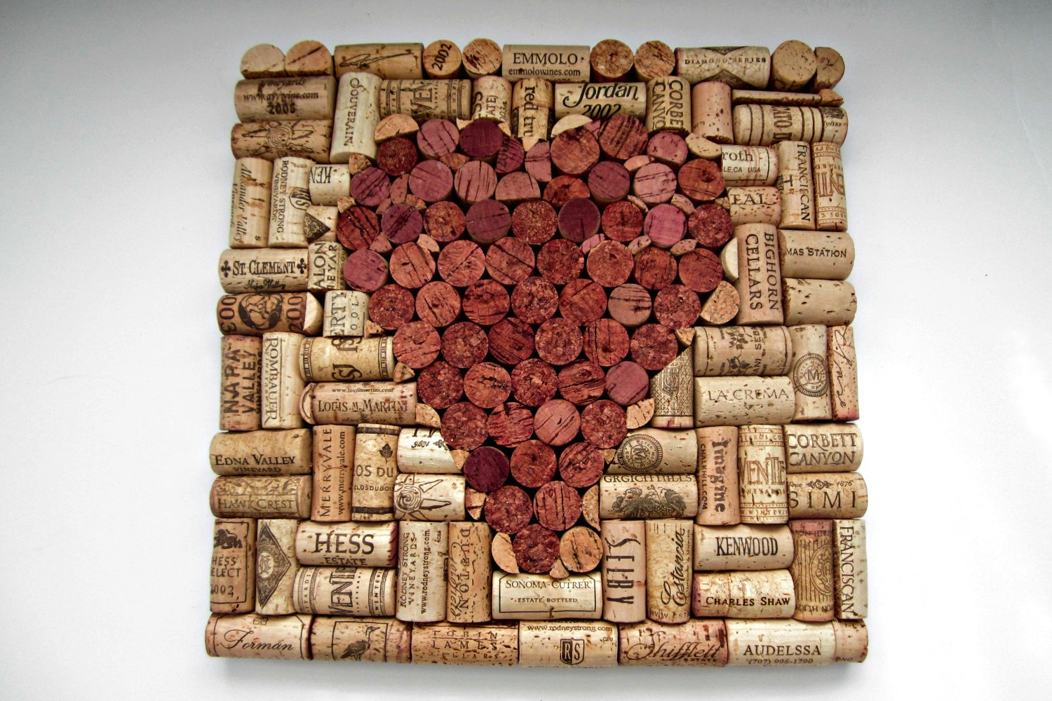 Handmade wedding finds for unique weddings cork art for Wine cork crafts for weddings