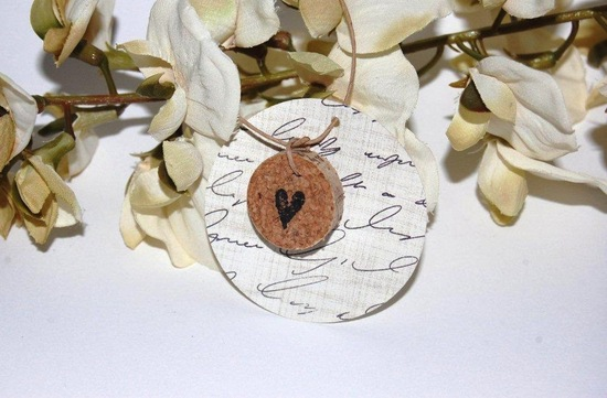 Handmade Wedding Finds for Unique Weddings Cork drink tags