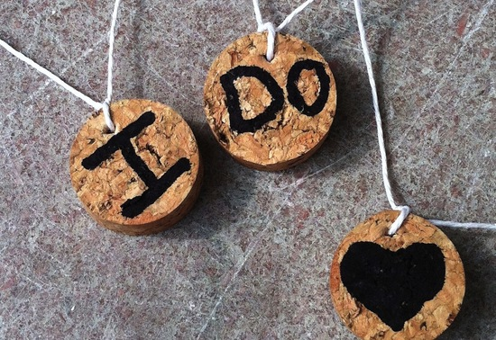 Handmade Wedding Finds for Unique Weddings Cork drink charms
