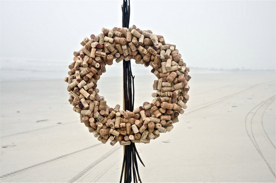 wine cork wreath winery wedding decor