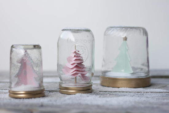 DIY Wedding Projects for Winter Brides Snow Globe Decor 5