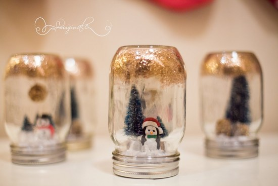 DIY Wedding Projects for Winter Brides Snow Globe Decor 2