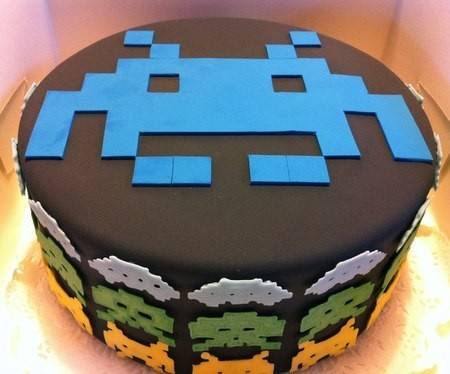 Wedding Cakes for the Groom space invaders