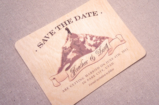 Rustic Wood Wedding Save the Date Utah
