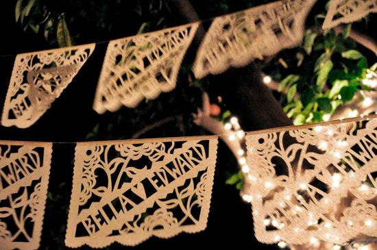 Personalized Laser Cut Wedding Garland